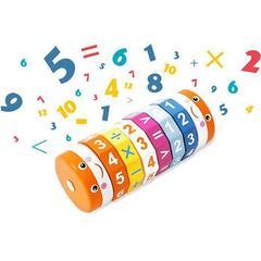 Арифметический цилиндрический деревянный Кубик Рубика