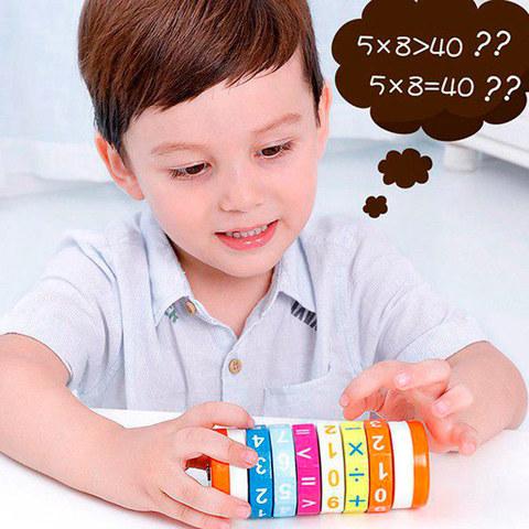 Арифметический цилиндрический деревянный Кубик Рубика 5