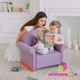 Детское кресло-качалка (мини-диванчик), Лавандовое 4