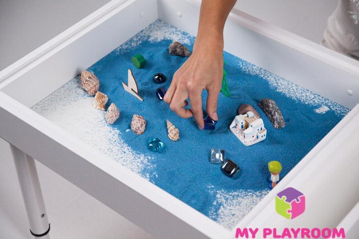Купить детскую домашнюю песочницу для игры с кинетическим песком