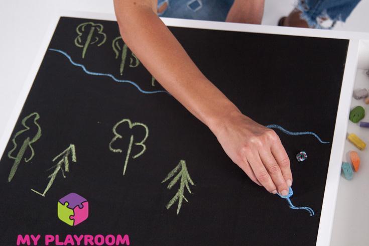 Рисование на крышке для домашней песочницы myplayroom
