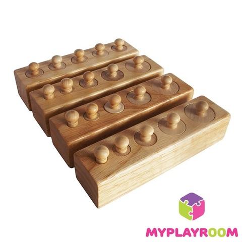 Блоки с цилиндрами для малышей (материал Монтессори) 2