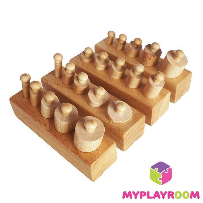 Блоки с цилиндрами-вкладышами для малышей